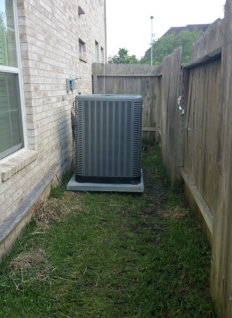 container outside the house